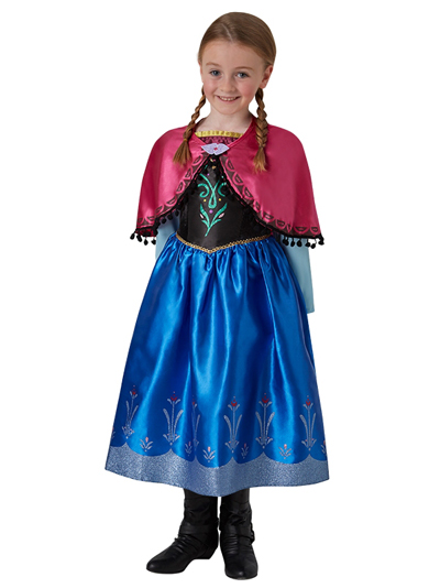 Anna Deluxe Dress Frozen | Die Eiskönigin Kinder Lizenzkostüm